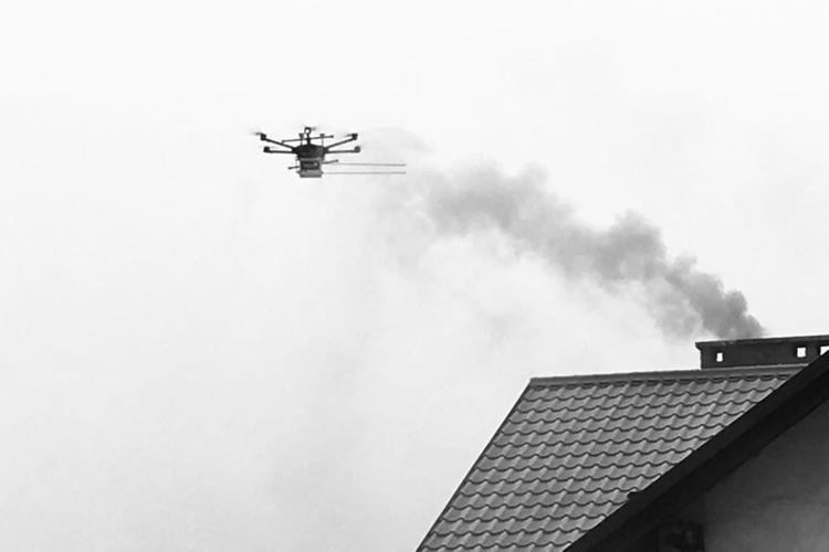 Władze Żor walczą ze smogiem: drony znów wyleciały na kontrole