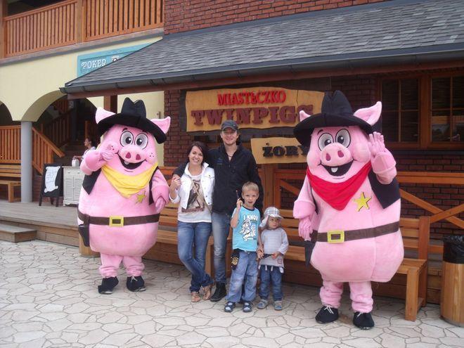 W zeszłym tygodniu w Miasteczku bawił się Piotr Kupicha ze swoją rodziną