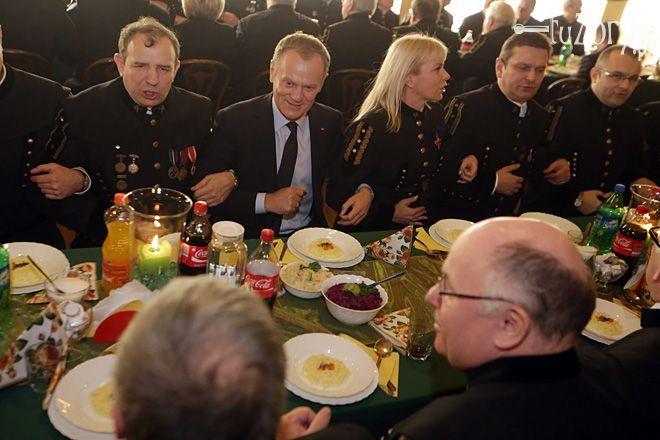 Barbórka 2013: Donald Tusk i Elżbieta Bieńkowska odwiedzili KWK Krupiński w Suszcu, Dominik Gajda