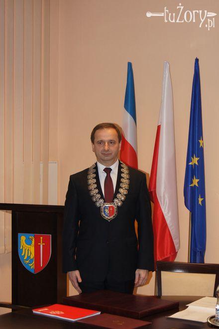Waldemar Socha podczas zaprzysiężenia na urząd Prezydenta Miasta Żory