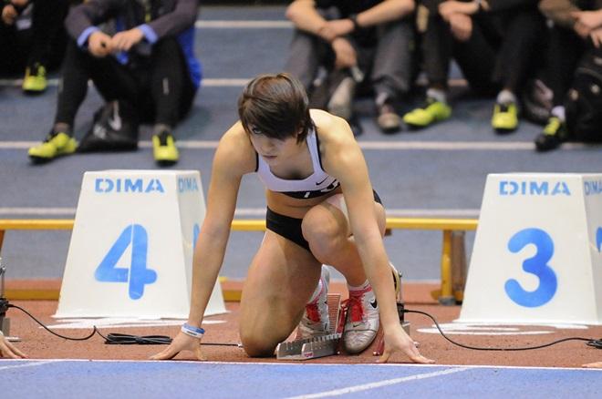 Start Ewy Swoboda w biegu na 60 metrów