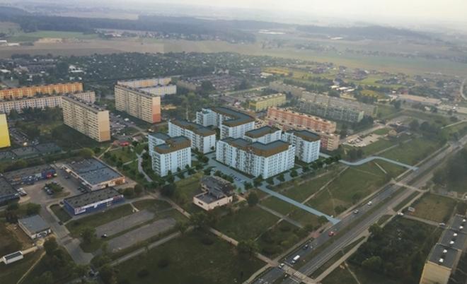 Wizualizacje budynków wielorodzinnych na os. Pawlikowskiego