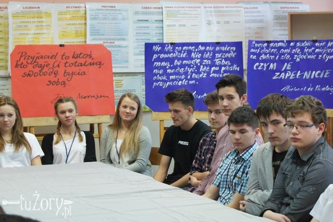 """Debatę pod hasłem """"Nienawiść – jestem przeciw"""" zorganizowano w ramach programu Centrum Edukacji Obywatelskiej"""
