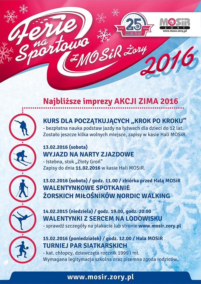 Nadchodzące wydarzenia w ramach Akcji Zima 2016