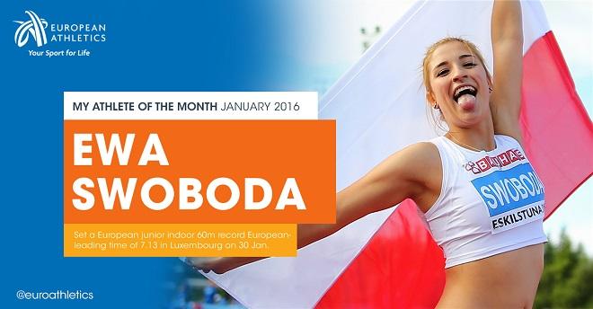 Ewa Swoboda została nominowana do ''Najlepszej Lekkoatletki Europy miesiąca styczeń''. Do 5 lutego możesz oddać swój głos