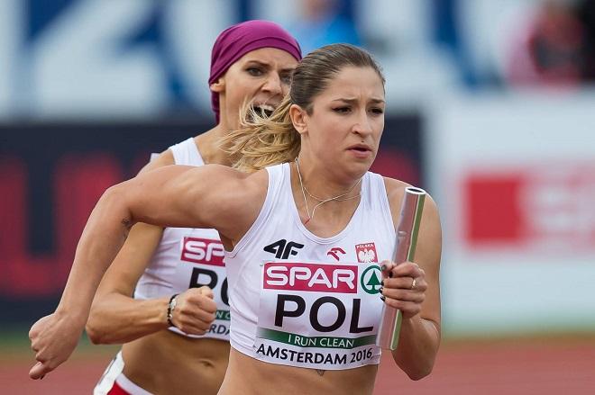 Polki zajęły 7. miejsce w finałowym biegu sztafety 4x100 m. Pobiły własny rekord sezonu