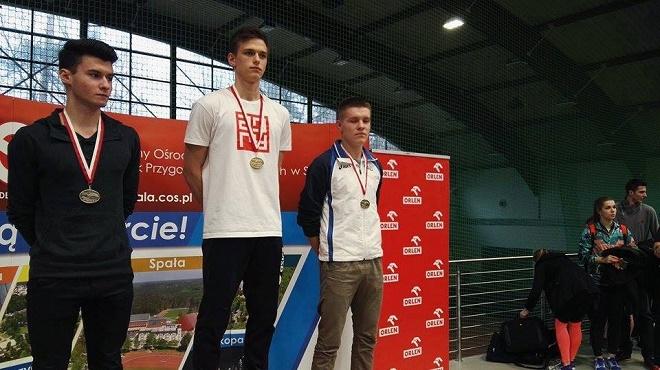 Paweł Dzida, zawodnik UKS Czwórka Żory, został Mistrzem Polski Juniorów w skoku w dal