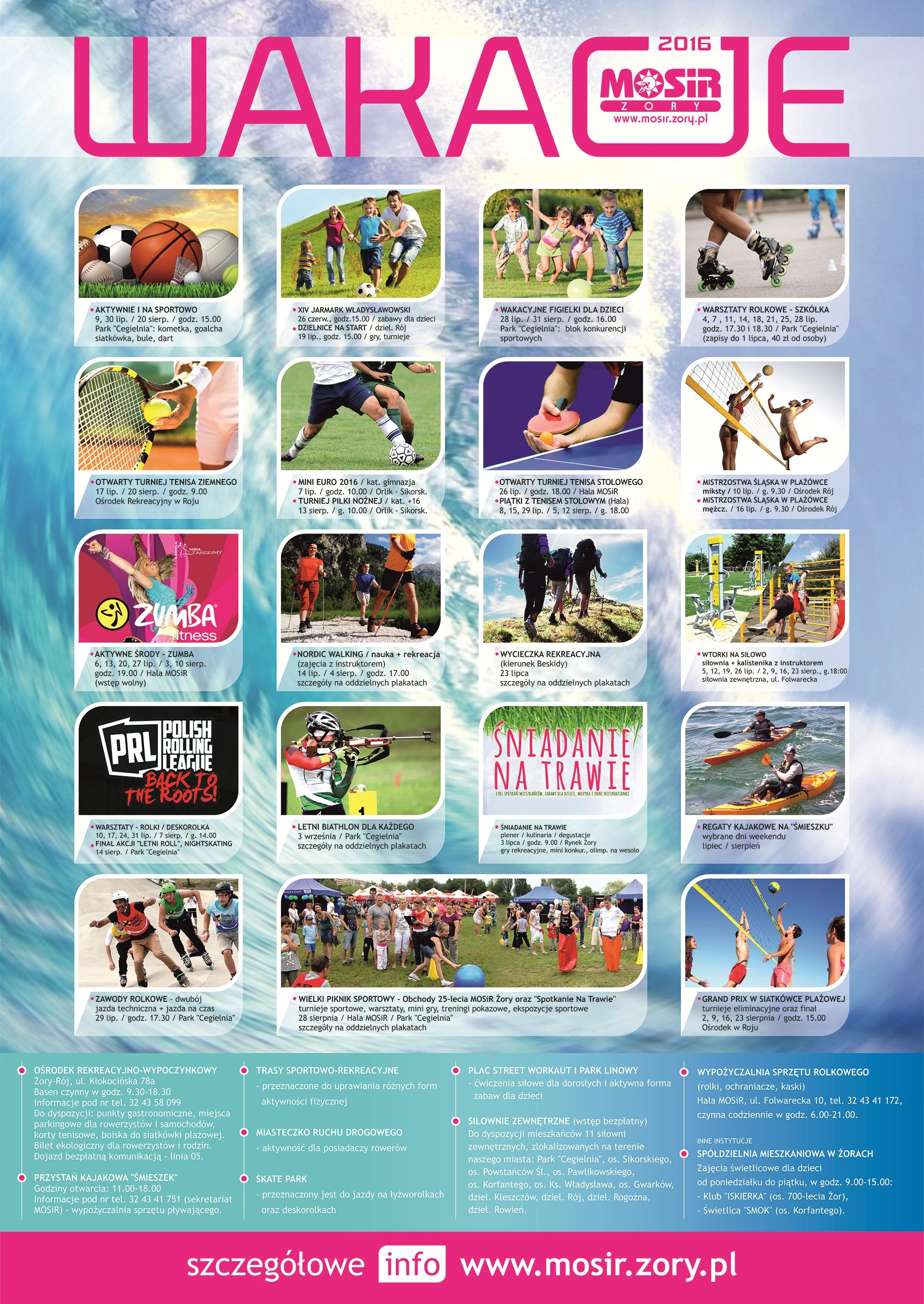 Plakat promujący Akcję Lato 2016