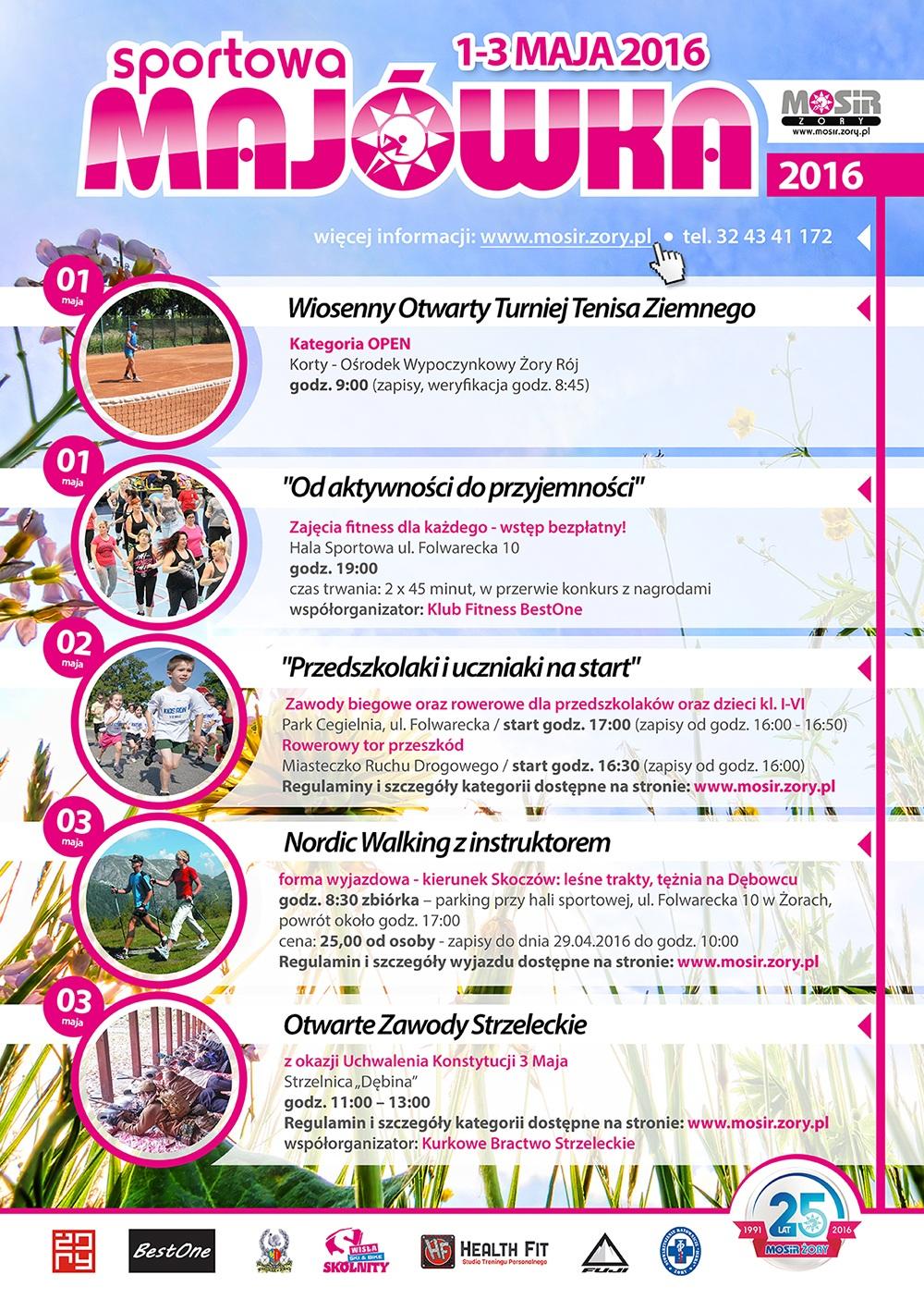 Harmonogram wydarzeń sportowych żorskiego MOSiR-u w majowy weekend 2016