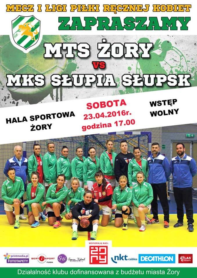 MTS Żory zagra w sobotę 23 kwietnia przedostatnie spotkanie w żorskiej hali. Przeciwnikiem będzie drużyna Słupii Słupsk