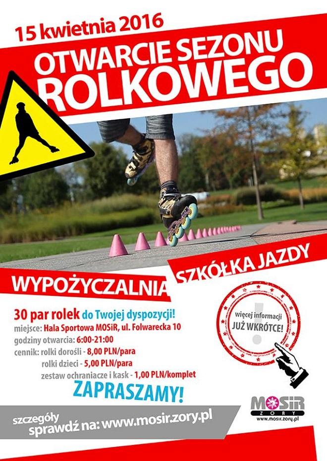 Już 15 kwietnia w piątek nastąpi oficjalne otwarcie sezonu rolkowego w żorskim Parku Cegielnia