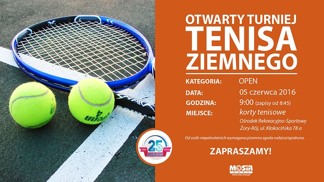 W niedzielę 5 czerwca na kortach Ośrodka Sportowo-Rekreacyjnego w Roju odbędzie się turniej tenisa ziemnego