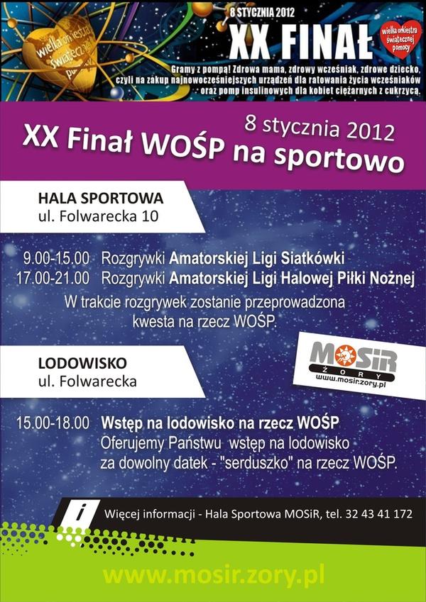 XX Finał WOŚP na sportowo , materiały prasowe