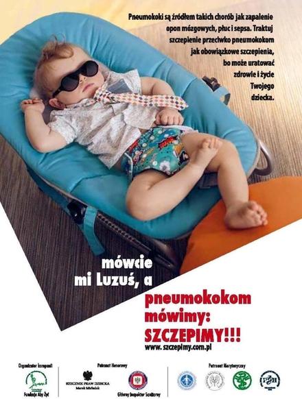 """Trwa kampania """"Pneumokokom mówimy: Szczepimy!!!"""", mat. prasowe"""