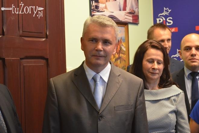 Dariusz Domański podczas wczorajszej konferencji Prawa i Sprawiedliwości
