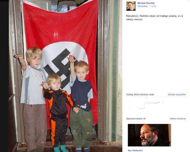Zdjęcie i komentarz M. Buchty, które stały się przedmiotem ogólnopolskiej dyskusji
