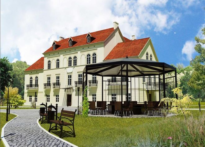Pałac w Baranowicach po rewitalizacji.