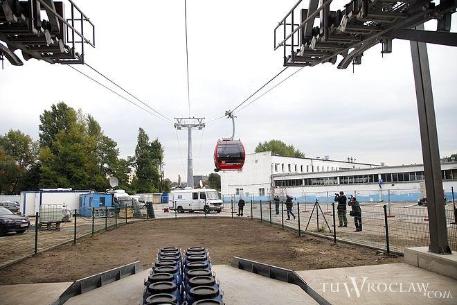 Kolej gondolowa we Wrocławiu ruszyła w 2013 roku