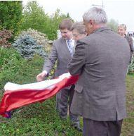 W odsłonięciu ronda uczestniczył wiceprezydent, Wojciech Kałuża.