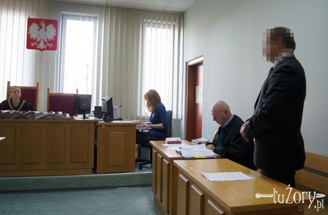 W. Socha podczas wrześniowej rozprawy w żorskim Sądzie Rejonowym