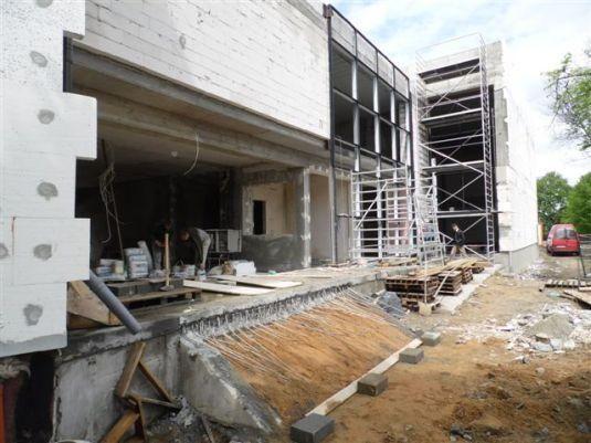 Budowa sali gimnastycznej w ZSP nr 6 w Kleszczowie.