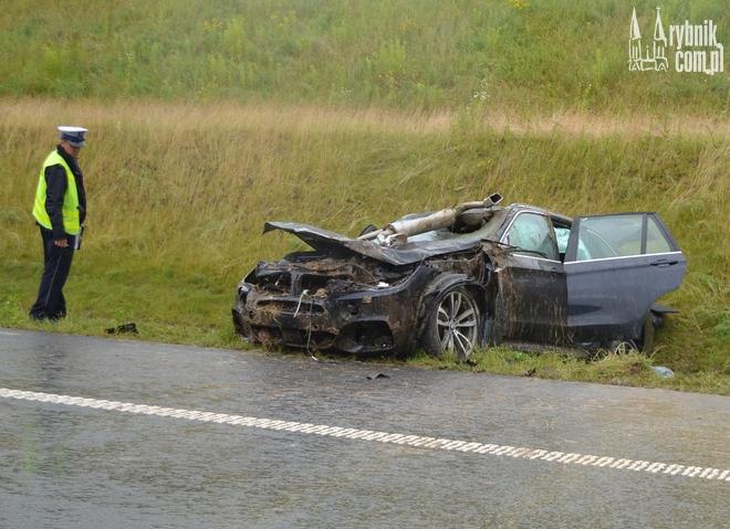 Wypadek na A1: BMW w rowie. Trzy osoby w szpitalu, Bartłomiej Furmanowicz