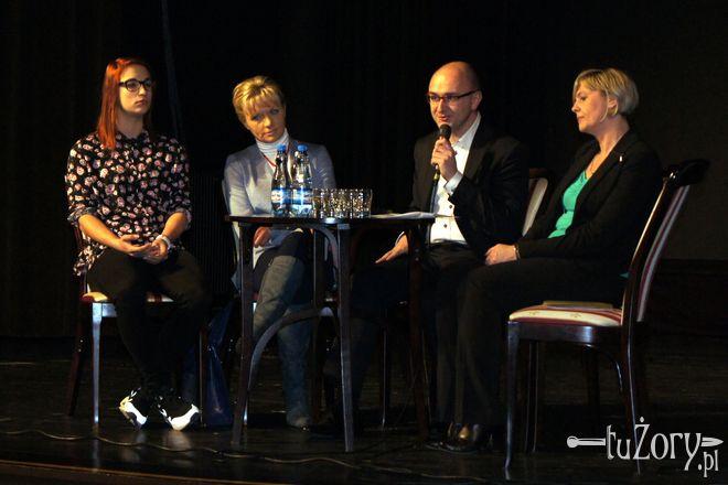 W pierwszym spotkaniu udział wzięli (od lewej): Ewa Swoboda, Iwona Krupa, Adam Zdziebło i Irena Ficek