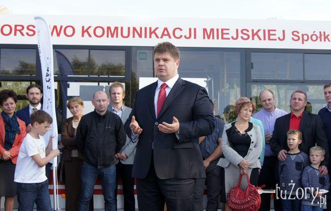Wojciech Kałuża podczas inauguracji kampanii wyborczej